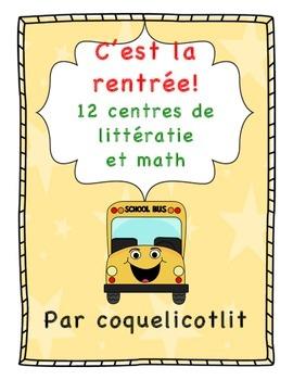 Back to school - C'est la rentrée: 15 centres de math et l