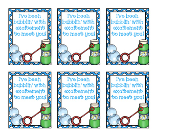 Back to school bubbles tag!