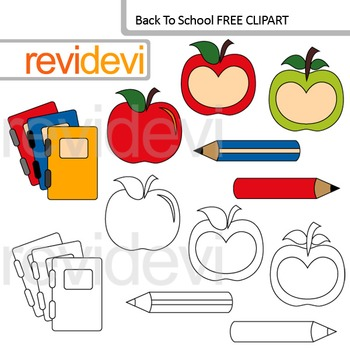 Back to school clip art free resource