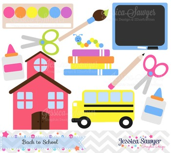 Back to school clip art, teacher clipart, commercial use,