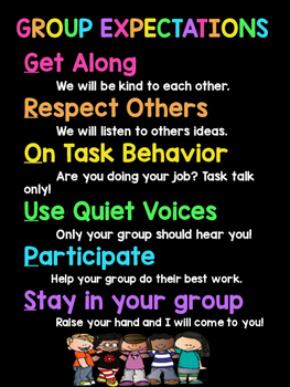 FREEBIE! Group Expectations Poster featuring Melonheadz!