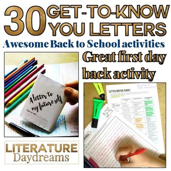 Back to school letter writing set - get to know your students