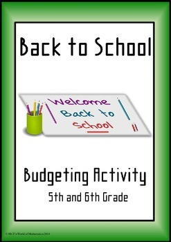 Beginning of the year math activities: budgeting for the new year