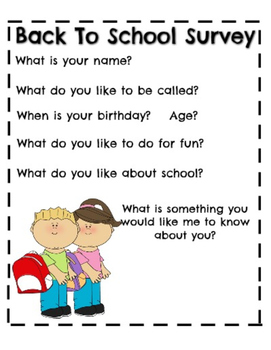 Back to school survey