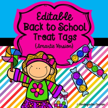 Editable Back to School Treat Tags {Smartie Version}