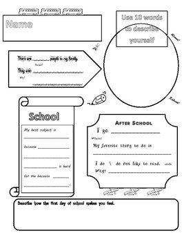 Back2School Activity Sheet