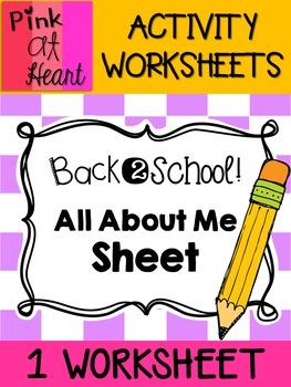 Back2School - All About Me FREEBIE