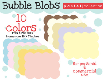 FRAMES: Bubble Blob {Pastel Collection}