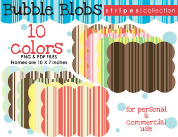 Background - Bubble Blob {Stripes Collection}