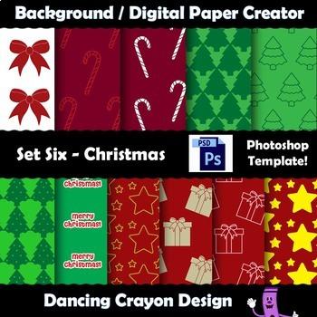 Background / Digital Paper Creator -Photoshop Template - C