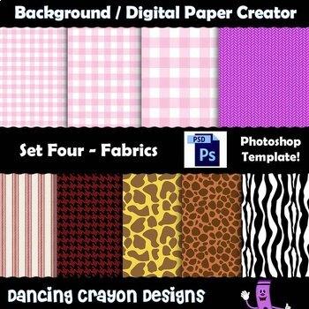 Background / Digital Paper Creator -Photoshop Template -Fa