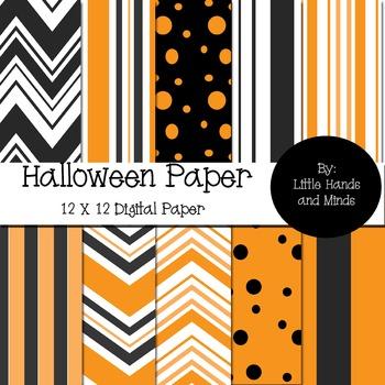 Background Digital Scrapbook Paper - Halloween