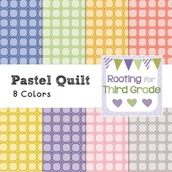 Backgrounds Paper Pack - Pastel Quilt