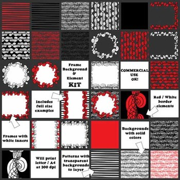 Background, Frame and Pattern Kit - Create Your Own Cover Pages
