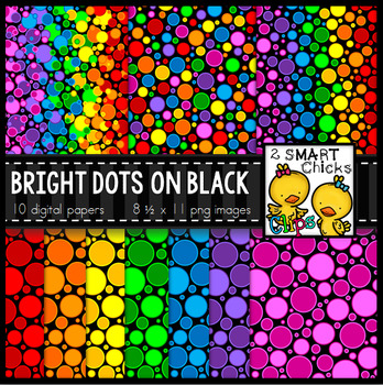 Background Paper – Bright Dots on Black Bundle