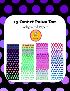 Background Paper -  Ombre Polka Dot Background Papers