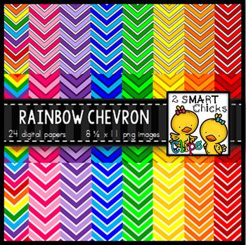 Background Paper – Rainbow Chevron Bundle