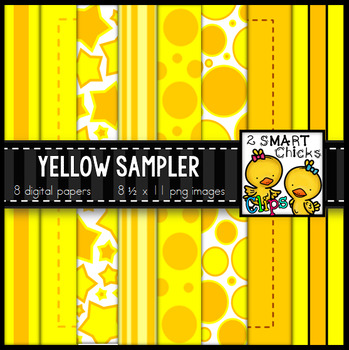 Background Paper - Yellow Sampler FREEBIE