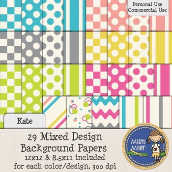 Digital Background Papers - Kate Mix