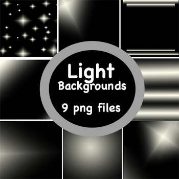 Background Papers: Set of 9 'Light' Theme digital papers;