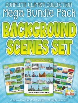 Background Scenes Clipart Mega Bundle Pack — Includes 210