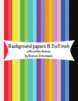 Backgrounds 8.5x11 inch - grid digital papers - commercial use