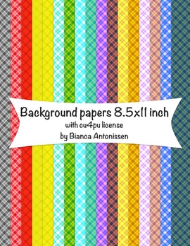 Backgrounds 8.5x11 inch - plaid digital papers - commercial use