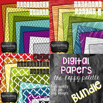 Backgrounds - BUNDLE {Digital Papers}