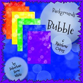 Backgrounds: Big White Bubbles (Rainbow)