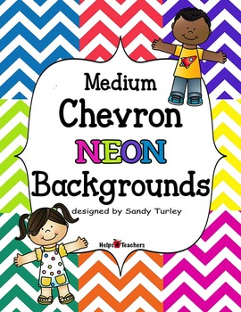 Backgrounds:  Chevron Medium NEON Colors