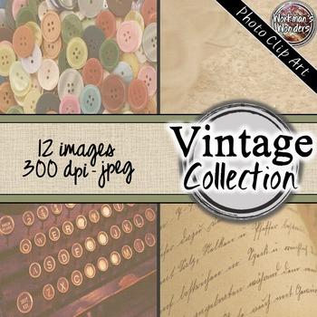 Photo Clip Art (12 Images/4 Sizes) - Vintage