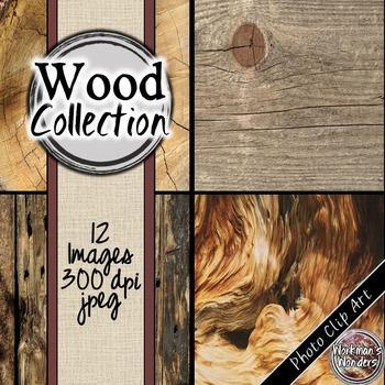 Photo Clip Art (12 Images/4 Sizes) - Wood