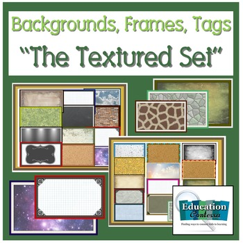 Backgrounds, Frames, Tags: The Textured Set