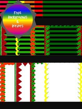 Backgrounds:  Fruit Borders and Backgrounds