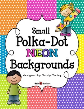 Backgrounds: Small Polka-Dot Neon Colors