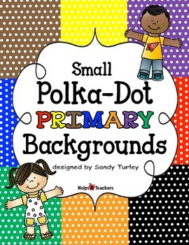 Backgrounds: Small Polka-Dot PRIMARY Colors