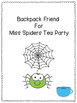Backpack Friend For Miss Spiders Tea Party