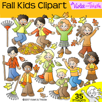 SALE! Kids Fall Kids Activities LINE ART + CLIPART BUNDLE
