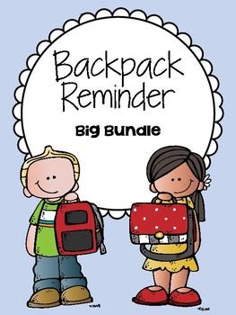 Backpack Reminder - BUNDLE (Includes ALL of the Backpack R