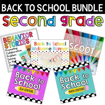 2nd Grade Back to School Centers: ELA and Math Bundle