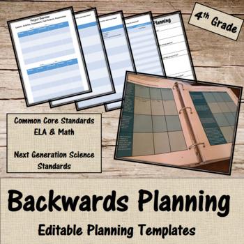 Backwards Planning for 4th grade Teachers