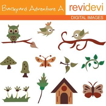 Backyard Adventure A - Clip art