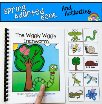 Spring Adapted Book and Vocabulary Activities:  The Wiggly