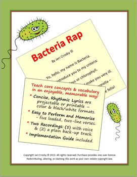 BACTERIA RAP - Concise, Clear Science Vocabulary & Concept