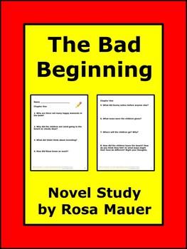 Bad Beginning Book #1 Literacy Unit