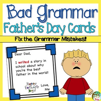 Bad Grammar Father's Day Cards