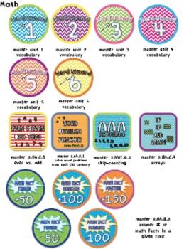 Badges: 2nd Grade Common Core Math