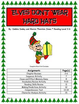 """Bailey School Kids """"Elves Don't Wear Hard Hats"""" Novel Unit"""