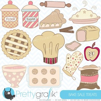 Bake sale clipart commercial use, vector graphics, digital