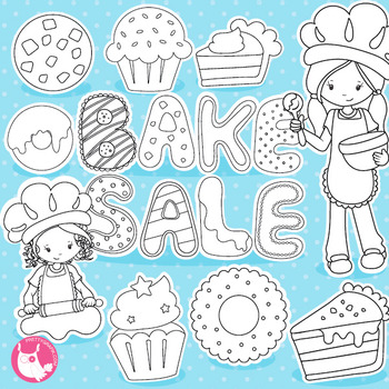 Bake sale stamps commercial use, vector graphics, images
